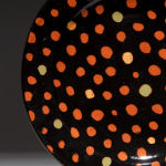 Tiny Dots Black. Available in 8 and 12 inch plates or 10 inch bowl.